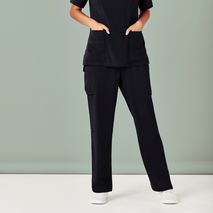 Polyester Ladies Straight Leg Scrub Pants